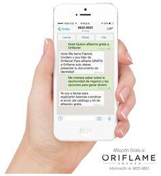 Afiliate GRATIS a Oriflame! Más información al 8822-9003 (Costa Rica)