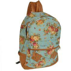 Generic Women Girl Lady Vintage Cute Flower School Book Campus Bag Backpack (Blue) by Other, http://www.amazon.com/dp/B00DSJ3QBU/ref=cm_sw_r_pi_dp_4OYosb0SH6TCV