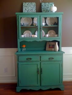 Another pretty painted china cabinet