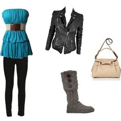 cute & I love the boots...polyvore