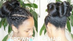 New Hairstyle Posted TODAY! http://www.browngirlsstyle.com/dutch-braids-semi-cinnabun-hairstyle/#browngirlshair #teamnatural #hairstyle