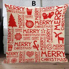 Christmas decorative pillow for sofa linen