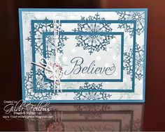Your Fellow Stamper: Triple Time Stamping Christmas Card
