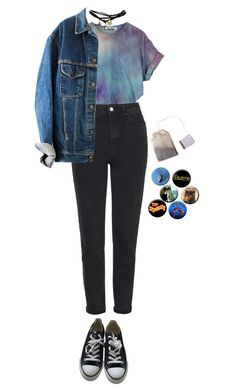 """""""hellish"""" by julietteisinthe80s on Polyvore featuring Topshop, Wet Seal and Converse"""