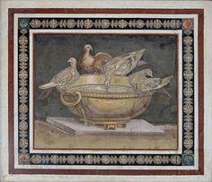 Mosaic doves Musei Capitolini  - Kopie nach Sosos