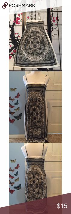 India Boutique Black and White Dress Measurements - Bust 13in (stretches) Length 32in Size on tag - One Size India Boutique  Dresses