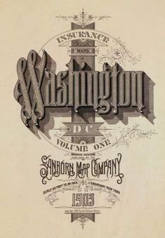 CITY STREET MAP OF WASHINGTON DC / Sanborn Map Company
