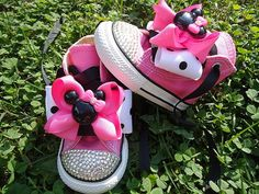 I could customize some pink sneakers...