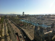 Vue de la marina depuis El Mirador de Colon - #Barcelona