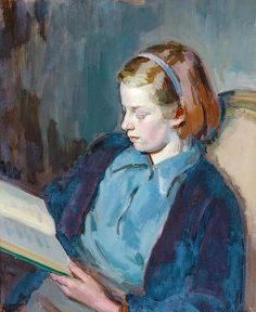 ✉ Biblio Beauties ✉ paintings of women reading letters & books - Felicia by Henry Lamb
