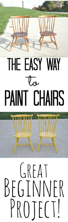 The Easy Way to Paint Chairs {Great Beginner Project}