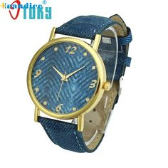 Hot Hothot Sales Design Women Watch Denim Cloth Wrist Watch Women Casual Quartz Watch, relogio feminino,montre femme  LI #Affiliate