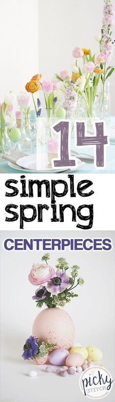 Spring Centerpieces, Spring Decor, How to Decorate for Spring, Spring Decor Ideas, Spring Tablescapes, Spring Tablescape Designs, Spring Home Decor, DIY Spring Centerpieces, Easy Spring DIY Decor, Popular Pin.