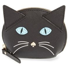 kate spade new york 'cat's meow' cat coin purse ($78) ❤ liked on Polyvore