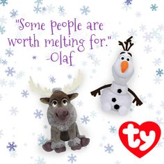Olaf and Sven are ready to play! Add these Frozen Beanie Babies to your collection