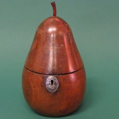 Continental Pearwood Pear Shaped Tea Caddy circa 1800