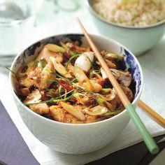 Gewokte kip met rijst ww recept