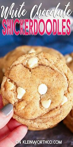 Snickerdoodle Cookie Recipe is the perfect fall dessert for cinnamon lovers. If you want an easy to make soft & chewy snickerdoodle cookie – with or without white chocolate chips, this is for you. Best Homemade Cookie Recipe, Popular Cookie Recipe, Delicious Cookie Recipes, Most Delicious Recipe, Best Cookie Recipes, Homemade Cookies, Best Dessert Recipes, Yummy Cookies, Fun Desserts