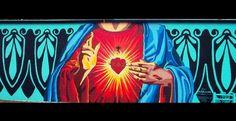 <b>The Sacred Heart</b><br> <i>Artist: Mark Benavides</i><br> <i>St. Mary's Strip</i><br> Facebook/<a…