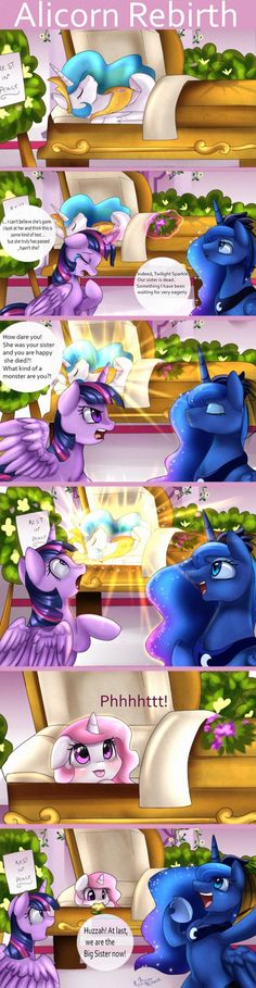 Comic: Alicorn Rebirth by pridark.deviantart.com on @DeviantArt