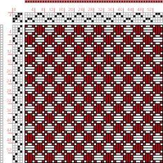 draft image: Figure 766, A Handbook of Weaves by G. H. Oelsner, 4S, 4T