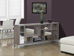 "Monarch Specialties Dark Taupe Reclaimed-Look 60""L Tv Console 
