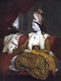 'Mrs. Baldwin in Eastern Dress' (1782) by English portrait painter Sir Joshua Reynolds (1723-1792). via my daily art display