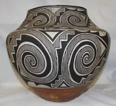 Nativo americano histórico Olla Cerámica de Acoma con Fine Tularosa Diseño # 327