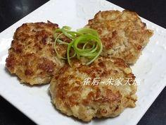 燕麥咸魚馬蹄煎肉餅