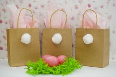 Bunny Tail Candy Bags // A Pinterest Idea For Easter