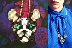 Dog Necklace hama beads design by tructoc