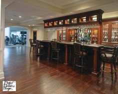 Dream Pub - traditional - basement - chicago - by Project Partners Design, Inc.