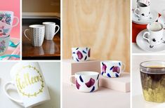 24 Fun and Fabulous DIY Mug Ideas for a Weekend ProjectYou can find Weekend projects and more on our Fun and Fabulous DIY Mug Ideas for a Weekend Project Rustic Winter Decor, Diy Art Projects, Wood Projects, Interior Design Games, Diy Spring Wreath, Diy Mugs, Weekend Projects, Diy On A Budget, Backyard Games