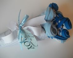 Washcloth Bouquet for Little Baby Boy.