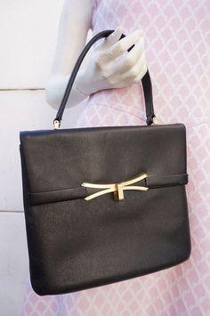 SAC Bag Cabas VIMAR Leather Cuir RETRO vINTAGE vtg 60 Sixties Babydoll PreppY