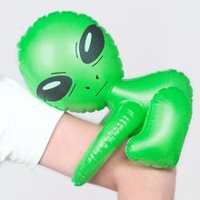 Kawaii Inflatable Green Alien Model Toys Child Inflated Toys CosPlay Halloween/Birthday Party Supplies Kids Science Teach Toys(China (Mainland))