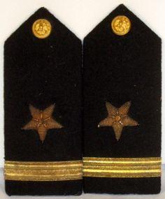 US Navy Naval USN Male Ensign Line Officer Shoulder Boards Epaulets Bullion