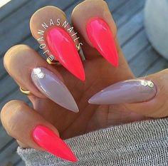 Stiletto Nails. Acrylic Nails. Summer Nails.