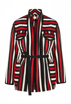 Etoile Isabel Marant Breeda Striped Wool Blend Jacket