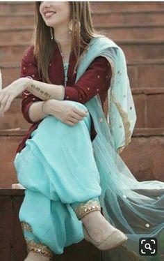 Punjabi Suits Party Wear, Punjabi Salwar Suits, Punjabi Dress, Patiala Suit Designs, Kurti Designs Party Wear, Salwar Designs, Dress Designs, Punjabi Suits Designer Boutique, Indian Designer Suits