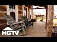 VIDEO: Before and After: A Log Cabin Renovation in Tennessee - HGTV - http://koruly.com/before-and-after-a-log-cabin-renovation-in-tennessee-hgtv/ -