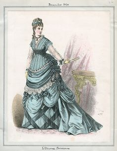 1874 L'Elegance Parisienne fashion plate