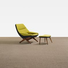Illum Wikkelsø / lounge chair and ottoman , Scandinavian Design.