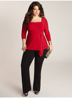 Luella Infinity Tunic in Scarlet    I really love the color, the sleeve length, and the neckline.