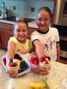 Fruit Filled Ice Cream Cones - Lori Miggins Fitness - Fitness, Nutrition, Family and Organization