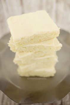 White Texas Sheet Cake or Fudgy Vanilla Brownie, this recipe is amazing and so moist and delicious!