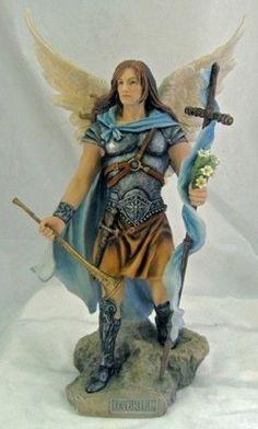 Archangel Gabriel Statue Sculpture Figurine amazing hand painted spiritual statue