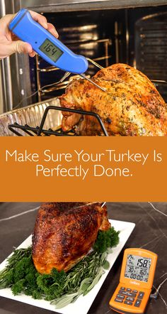When is your turkey really done? The ThermoWorks Thermapen Mk4 and ChefAlarm will ensure your turkey is perfectly done.