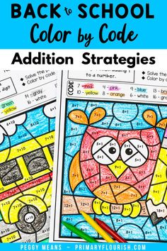 Back to School Teaching Addition, Addition Activities, Kids Learning Activities, Mental Math Strategies, Math Resources, Addition Facts, Addition And Subtraction, Math Fact Fluency, Back To School Crafts