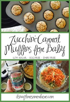Zucchini Muffins for Baby - It's Naptime Somewhere